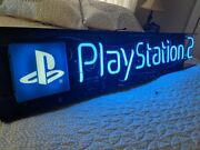Sony Playstation 2 Ps2 Neon Vintage Display Sign