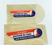 2 Sizes Sets Of Eastern Air Lines Air Mail Air Parcel Post Stickers