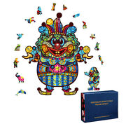 Christmas Clown 100/200/300 Pieces Wooden Jigsaw Puzzles Toy Game Crafts Kids