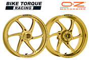 Oz Gass Rs-a Gold Forged Alloy Wheels To Fit Suzuki Gsxr1000 No Abs 09-16