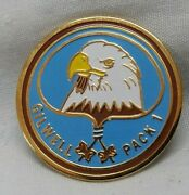 Boy Scout 2 Bead Gilwell Pack 1 Eagle Woodbadge Screw Back Pin Badge For Hat