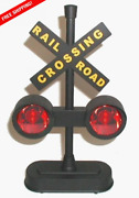 Crossing Sign, Train/track Crossing Sign, With Flashing Lights And Sounds