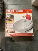 George Foreman Healthy Cooking Electric Indoor Grill Gr003op W/drip Tray Silver