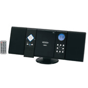 Wall Mount Micro Home Stereo System Am/fm Radio Cd Player W/ Remote Black New