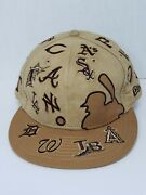 New Era Cap 59fifty All Over Mlb Teams Faux Suede Tan Brown Fitted Hat 7 3/8 Cap