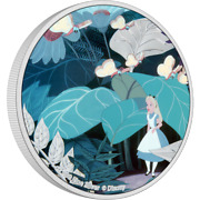 2021 Niue 2 Disney Alice In Wonderland 1 Oz Silver Proof Coin - 2,000 Made