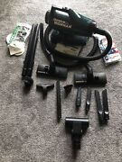 Oreck Xl Ironman Im-88 Handheld Canister Vacuum Cleaner On Wheels W/ Bags