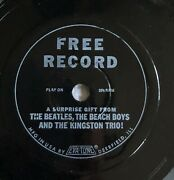 Free Record 5 Inch Plastic Disc A Surprise Gift From The Beatles Eva-tone