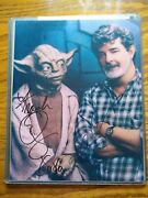 Star Wars George Lucas And Frank Oz Autographed Photo