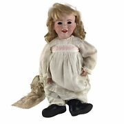 Antique Sfbj 236 French Bisque Character Laughing Baby Doll 27 Needs Stringing
