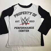 Wwe 2016 Licensed Long Sleeve Andlsquow Performance Center 2013andrsquo Tee Unisex