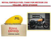 Royal Enfield Fuel Tank For Meteor-350 Yellow - With Sticker /express Shipping