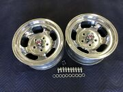 Vintage 15x7pair Polished Real Shelby Cal 500 Slot Mags5 On 4 3/4 Chevy Hotrod