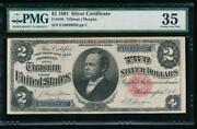 Ac Fr 246 1891 2 Silver Certificate Pmg 35 Comment Windom Tough Type