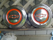 Two Chevy Chevrolet Suburban Cameo Pickup Truck Hubcaps Wheel Covers Center Cap