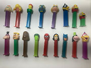 Lot Of 17 Pez Candy Dispensers Batman Woman Hulk Chewbacca And More Used