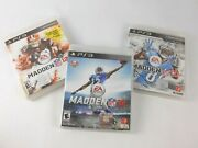 Lot Of 3 Playstation 3, Ps3 Games Lot Madden Nfl 12 + 13 + 16