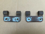 1928 1931 Model A Ford Aa Truck Spare Tire Rack Hinges Original Pair Flat Bed