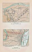 Antique 1778 Revolutionary War Maps Titled Valley Forge And Philadelphia Evacuated