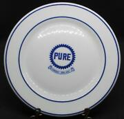 Very Rare Advertising Plate Made By Shenango Pottery For Pure Oil Gasoline