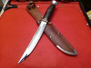 🔥vintage Rare Old Solingen Hunting Bowie Knife Sawback Youth Lady W/case Scout