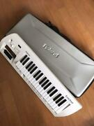Roland Lucina Synthesizer Ax-09 White Shoulder Keyboard Used From Japan