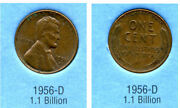 1956 D Wheat Penny Key Date Us Circulated One Lincoln Rare 1 Cent U.s Coin 3682