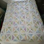 Patchwork Shower Curtain Fabric Custom Made Lined Country Farmhouse Calico