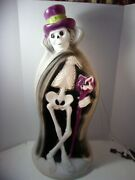 Vintage Blow Mold Rare Halloween 32 Skeleton Cape Cane Hat Ghoul Local Pick Up