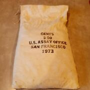 Original Mint Sewn Bag Of 1973-s Lincoln Cents