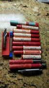 Lot 13 Vintage Quinco Greenfield High Speed End Mill Cutters Machinist Tooling