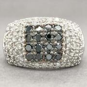 Estate 14k W Gold 2.39cttw Black And G-h/si1 Diamond Ring