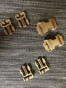 Swiftkit Chest Rig Tactical Molle Connector Qa Clips Buckle Set. Coyote Brown