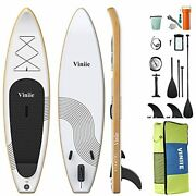 Inflatable Stand Up Paddle Board With Accessories Of Backpack 2 Bags Fl
