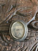 1861 Civil War Soldier Photo Tintype Sterling Silver Military Jacket Pin Plate