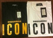 Dsquared2 Menand039s Icon Logo Slim Fit T-shirt New With Tags Limited Stock.