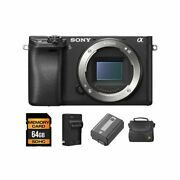 Sony Alpha A6300 Mirrorless Digital Camera Body Only + 2 Batteries64gb And More