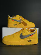 Nike Off White Air Force 1 University Gold Ica Size 8