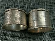 Lot Of 2 Vintage Sterling Silver Napkin Rings