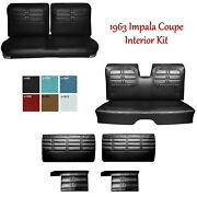 1963 Impala Coupe Front And Rear Bench Seat Upholstery, Panel And Armrest Set