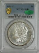 1889-s Morgan Silver Dollar Ms64+ Secure Pcgs Cac 943750-10