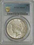 1922-s Peace Silver Dollar Ms65 Secure Pcgs 944287-24