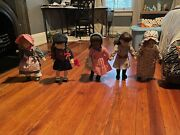 American Girl Lot - 5 Dolls, Clothes, Accessories, And Furniture