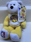 Limited Treasures Beanie Bear La Lakers New With Tags