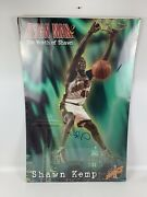 Autographed Shawn Kemp Reign Man 2 Seattle Supersonics 1995 Poster 23x35 New Nos