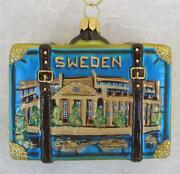 Sweden Suitcase With Dala Horse Glass Christmas Ornament - Nordstrom New Poland