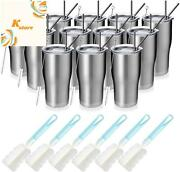 Manyhy 20oz Stainless Steel Insulated Tumbler 12 Pack Bulk Travel Mug With Lid