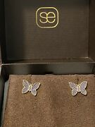 Sydney Evan Trunk Show Limited Edition 14k Yellow Gold Butterfly Stud Earrings