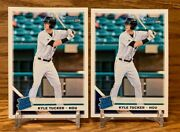 Kyle Tucker Rated Rookie 2 Card Lot | 2019 Donruss Houston Astros Rookie Lot 43