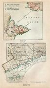 Antique 1779 Revolutionary War Maps Stony Point And Tryon's Raid